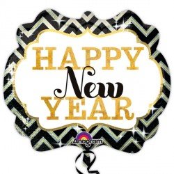 "MARQUEE HAPPY NEW YEAR SHAPE P40 PKT (25"" x 22"")"