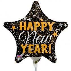 GOLD & SILVER  CONFETTI HAPPY NEW YEAR MINI SHAPE A15 FLAT