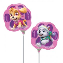 PAW PATROL SKYE & EVEREST MINI SHAPE A30 INFLATED WITH CUP & STICK