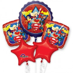 SUPER HERO GIRLS GROUP BALLOON BOUQUET P75 PKT (3CT)