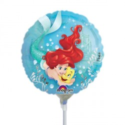 """DISNEY PRINCESS ARIEL 9"""" A20 INFLATED WITH CUP & STICK"""