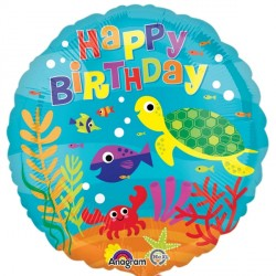 UNDER THE SEA HAPPY BIRTHDAY STANDARD S40 PKT