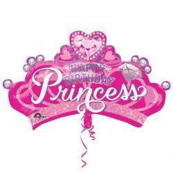 "PRINCESS CROWN & GEM BIRTHDAY SHAPE P35 PKT (32"" x 19"")"
