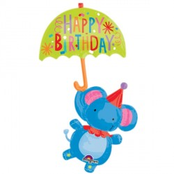 CIRCUS ELEPHANT BIRTHDAY SHAPE P45 PKT