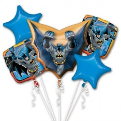 BATMAN 5 BALLOON BOUQUET P75 PKT (3CT)