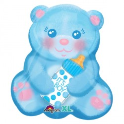 BABY BOY BEAR WITH BOTTLE JUNIOR SHAPE S40 PKT