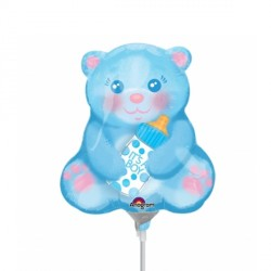 BABY BOY BEAR WITH BOTTLE MINI SHAPE A30 FLAT