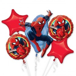 SPIDER-MAN ULTIMATE 5 BALLOON BOUQUET P75 PKT (3CT)