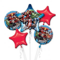 AVENGERS 5 BALLOON BOUQUET P75 PKT (3CT)