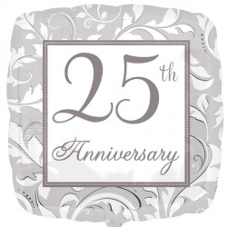 25TH SILVER ELEGANT SCROLL ANNIVERSARY STANDARD S40 PKT