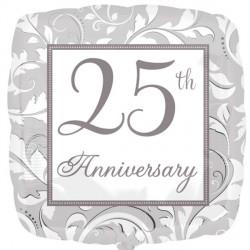 25TH SILVER ELEGANT SCROLL ANNIVERSARY STANDARD S40 PKT