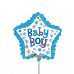 BABY BOY STAR WITH RUFFLE MINI SHAPE A30 FLAT