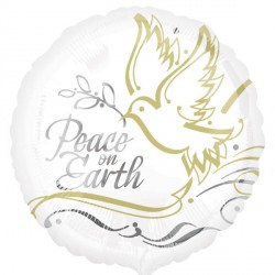 "PEACE ON EARTH GOLD/SILVER 18"" SALE"