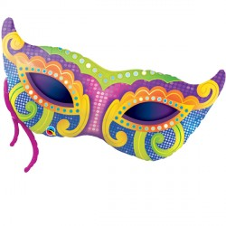 "MARDI GRAS MASK 38"" SHAPE GROUP B PKT"
