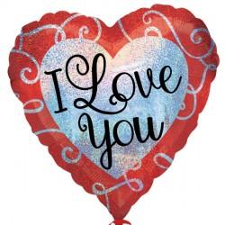 SPARKLE HEART I LOVE YOU STANDARD S40 PKT