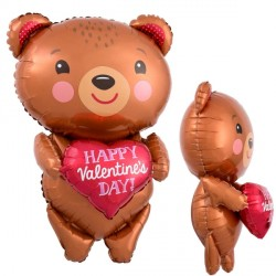 BEAR WITH HEART VALENTINES SHAPE P40 PKT
