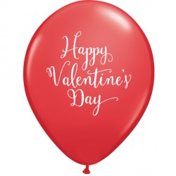 "HAPPY VALENTINE'S DAY SCRIPT 11"" RED (25CT)"