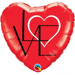 """L(HEART)VE RED 18"""" PKT IF"""