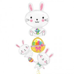 BUBBY STACKER EASTER MULTI BALLOON P70 PKT