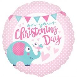 CHRISTENING PINK ELEPHANT STANDARD S40 PKT