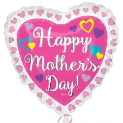 RUFFLE HEART MOTHER'S DAY SHAPE P35 PKT