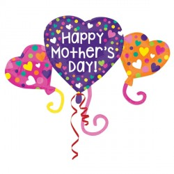 HEART TRIO MOTHER'S DAY SHAPE P35 PKT