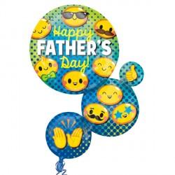 EMOTICON BUBBLES FATHERS DAY SHAPE P35 PKT