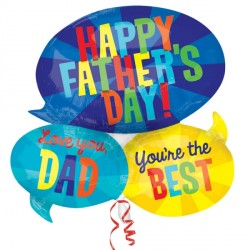 MESSAGES FATHER'S DAY SHAPE P35 PKT