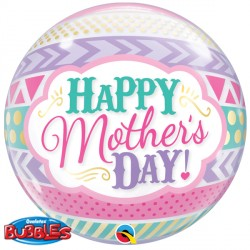 "DOTS & STRIPES MOTHER'S DAY 22"" SINGLE BUBBLE"