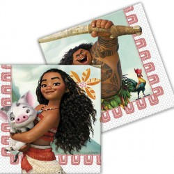 MOANA NAPKINS 2-PLY (20CT X 6 PACKS)