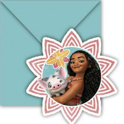 MOANA INVITATIONS & ENVELOPES (6CT X 6 PACKS)