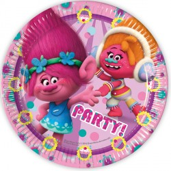TROLLS PAPER PLATES (8CT X 25 PACKS)