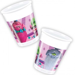 TROLLS PLASTIC CUPS (8CT X 25 PACKS)