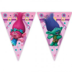 TROLLS TRIANGLE FLAG BANNER (1CT X 24 PACKS)