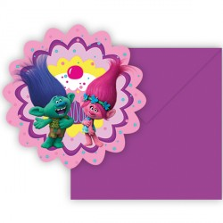 TROLLS INVITATIONS & ENVELOPES (6CT X 24 PACKS)
