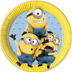MINION PAPER PLATES (8CT X 25 PACKS)
