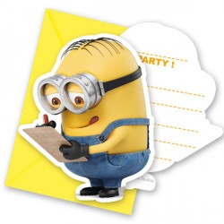 MINION INVITATIONS & ENVELOPES (6CT X 24 PACKS