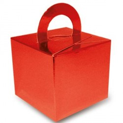RED METALLIC BOUQUET BOX 10CT