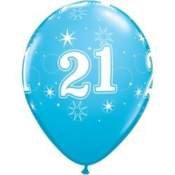 "21 SPARKLE-A-ROUND 11"" ROBIN'S EGG BLUE (6X6CT) YSJ"