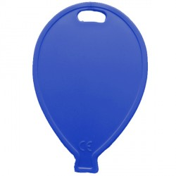 ROYAL BLUE BALLOON SHAPE PLASTIC WEIGHT 100CT