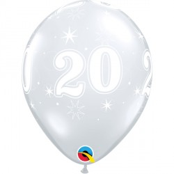 "20 SPARKLE-A-ROUND 11"" DIAMOND CLEAR (25CT) YGX"