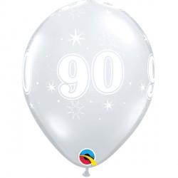 "90 SPARKLE-A-ROUND 11"" DIAMOND CLEAR (25CT)"