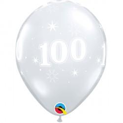 "100 SPARKLE-A-ROUND 11"" DIAMOND CLEAR (25CT)"