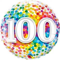 "100 RAINBOW CONFETTI 18"" PKT"