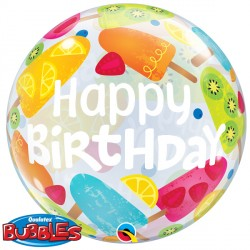"""BIRTHDAY FROZEN TREATS 22"""" SINGLE BUBBLE"""
