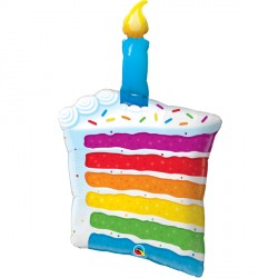 "RAINBOW CAKE & CANDLES 42"" SHAPE GROUP C PKT"