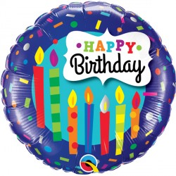 "BIRTHDAY CANDLES & CONFETTI 18"" PKT"