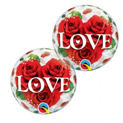 "LOVE ROSES 12"" AIR-FILLED BUBBLE (10CT)"