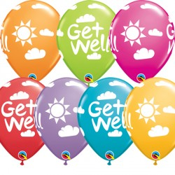 "GET WELL SUNSHINE 11"" FESTIVE ASSORTED (25CT)"