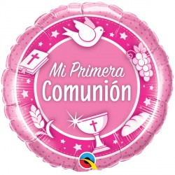 "COMUNION ROSADO 18"" PKT (5CT)"